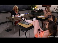 Lesbian students blackmailed huge tits Milf professor Alura Jeson and then on the couch they anal fisted her