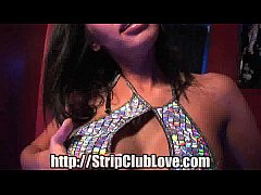 Brunette Stripper Blowjob