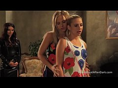 Mistress And Handmaiden: Gorgeous Young Blondes Undressing