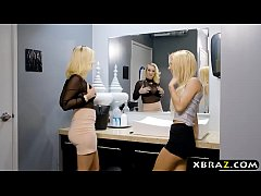 Bouncer gets lucky with curvy teen blonde Bailey Brooke