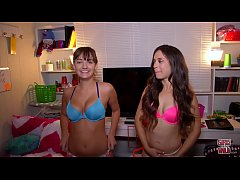 GIRLS GONE WILD - Young Charlotte Cross and Her Best Friend Stevie Show Off Their Petite Bodies