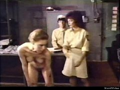 Frightened Girl and Lesbian Prison Officer