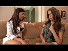 Busty finger-artist Taylor Vixen likes when her guest Emily Addison going her under the house