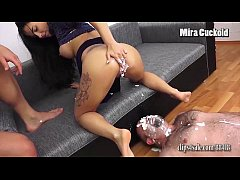 MIRA CUCKOLD - CUCKOLD EATS CREAM OUT OF MISTRE...