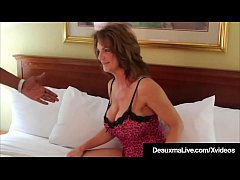 Big Boobed Mom Deauxma gets filmed fucking her big black cock fan that almost splits her in two as he rams her Cougar Cunt in her hotel room!