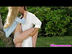 Attractive amateur couple sensual loving