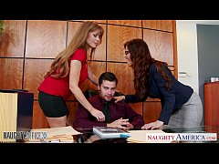 Milf office babes Darla Crane and Syren De Mer share dick