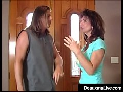 Busty Cougar Deauxma gets hassled by evil bookie who needs his debts paid! Deauxma offers some hot anal sex to cover the debt and the bookie is major happy with his dick in her ass!
