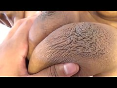Aroused Busty Breasts Big White Cock Riding Ebo...