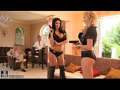 Epic foursome with Tarra White and Aletta Ocean