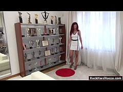 Rocco Siffredi casting sexy redhead Shona River. She starts showing her ass and lets Rocco fingers and licks it. In return Shona sucks Roccos big cock passionately. Finally, Rocco fucks Shonas tight wet pussy deep and hard.