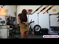 Curvy college girl with hot ass gets banged by pervert pawn man at the pawnshop