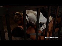 Two Lesbian Slaves Are Enjoying In Their Petite Bodies When Mistress Catches Them