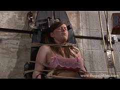 Blonde Taylor Hearts bizarre humiliation and lesbian bdsm of degraded bondage ba