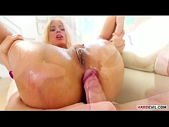 Busty and booty latina slut Luna Star enjoys some anal sex with two hung guys