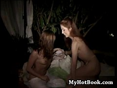 Two cute brunette teens  Gwen Summers and Naughtia