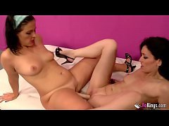 Two Spanish mature lesbians fuck hard each other with rubber dildos