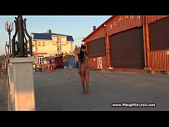 Public nudity on seafront