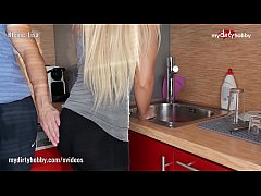 My Dirty Hobby - Sexy tight blonde fucked in the kitchen