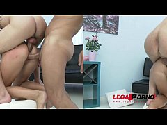 Laima tries double anal for the first time