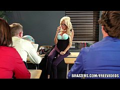 Big tit blonde teacher gets taught a lesson in fucking