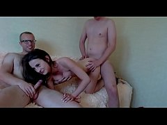 Sexy girl getting fucked by two man on Webcam / Watch them live at www.cams-69.com