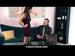 PunishTeens - Cheating Girlfriend Gets Whipped and Gagged