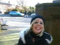Masturbation in public with blonde teen welsh babe Loz in uk outdoor nudity and