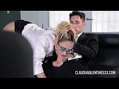 Big tit pornstar Claudia Valentine has her holes pounded by a big cock