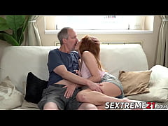 Young redhead rammed after blowing dick