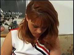 Redhead cheerleader always ready to get her ass pounding