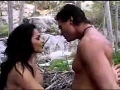 Horny Girl In Forest