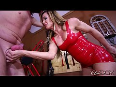 Destroying Her Slave's Balls/ Licking Her Boots Clean