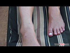 Outdoor tranny sex with Dante Colle and Kami Kartel