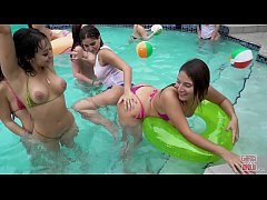 GIRLSGONEWILD - Nicole and Marylin Meet At A Party And Hook Up