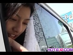 Ran Asakawa tries dick in the pussy while on th...