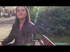 Public Agent Sexy student creampied outdoors