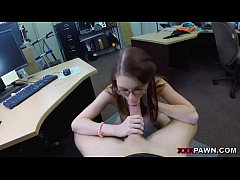 Chick in glasses takes cock deep inside her mouth on xxxpawn.pornotagir.com