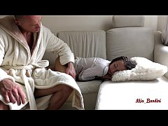 SURPRISE MORNING QUICKIE FOR SLEEPING PETITE TEEN. MIA BANDINI
