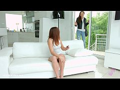 Evalina Darling and Tina Kay in a sensual lesbi...