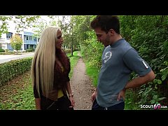 German Teen Tight Tini Talk from Street to Fuck by Stranger