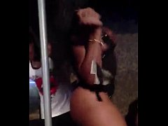 Black Stripper at Club