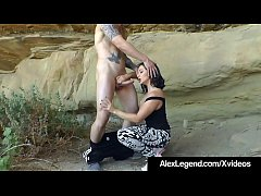 Alex Legend & Lea Lexis do crazy desert mountain fucking as she sucks his cock & Alex licks & fucks her holes! Pearls necklace in the hills? Oh yeah!