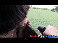 Spermy mouthed dutch teen