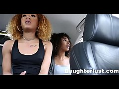 Ebony Daughters Punished & fucked for sneaking out |DaughterLust.com