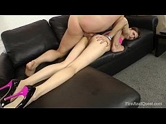 FirstAnalQuest.com - ANAL PLAY WITH A LEGGY TEEN CUTIE WITH TINY LITTLE TITS
