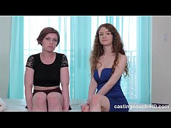2 redheads enjoying a BBC at casting