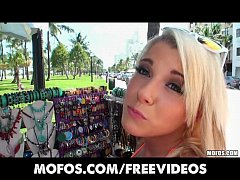 Beautfiul blonde GF is talked into stripping in public