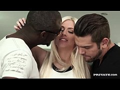 Jessie Volt Gets a Creampie and Facial in Interracial Threeway