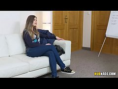 Czech teen gets fucked on a casting